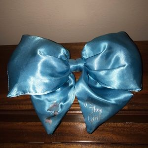 Other - Blue satin hair bow clip